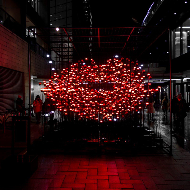 Canary Wharf Winter Lights 2020 - Desire by UXU Studio