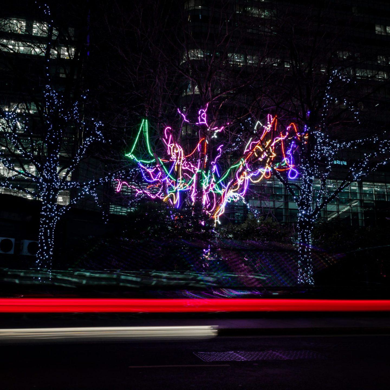 Canary Wharf Winter Lights 2020 - Neon Tree by Hawthorn