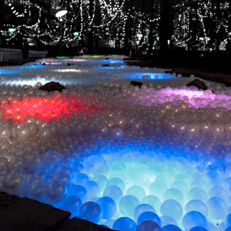 Canary Wharf Winter Lights 2020 - Pools of Light
