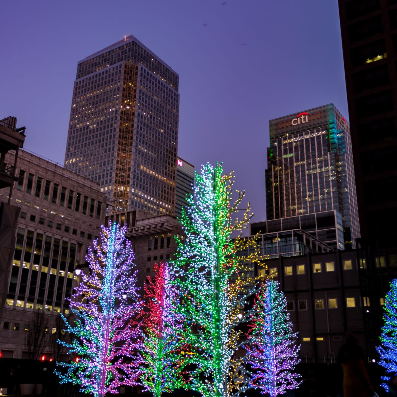 Canary Wharf Winter Lights 2020 - Sasha Trees by Adam Decolight
