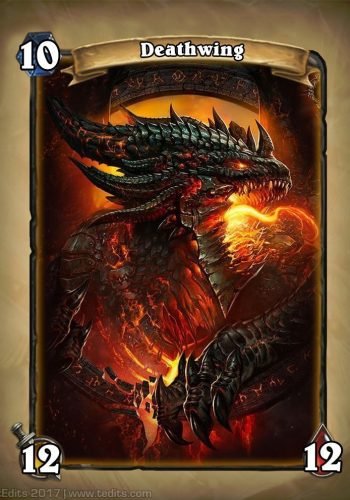 Deathwing Hearthstone Card Redesign Concept