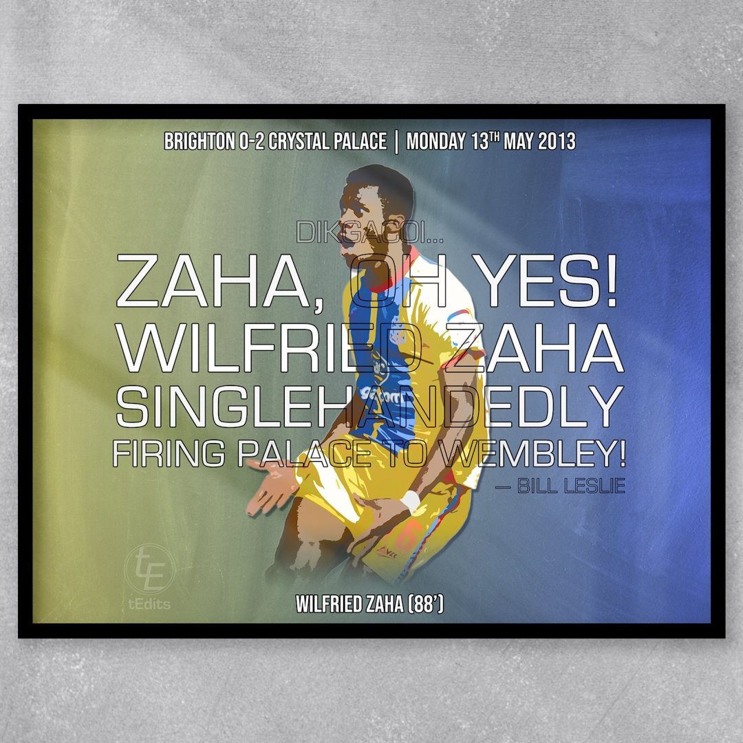 Wilfried Zaha vs Brighton, 2013